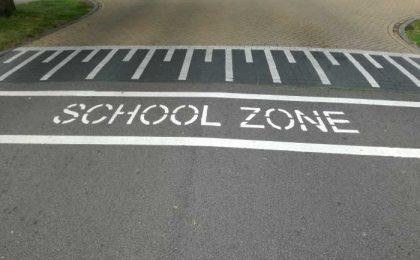 Spatiegebruik: School zone of schoolzone?