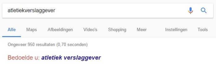 Google werkt onjuist spatiegebruik in de hand